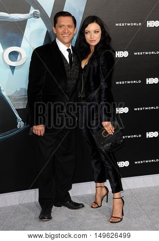 Francesca Eastwood and Clifton Collins Jr. at the Los Angeles premiere of HBO's 'Westworld' held at the TCL Chinese Theatre in Hollywood, USA on September 28, 2016.