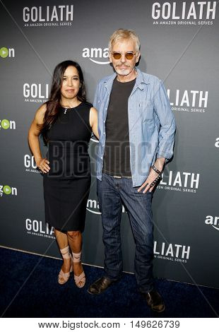 Billy Bob Thornton and Connie Angland at the Los Angeles premiere of Amazon's 'Goliath' held at the London Hotel in West Hollywood, USA on September 29, 2016.