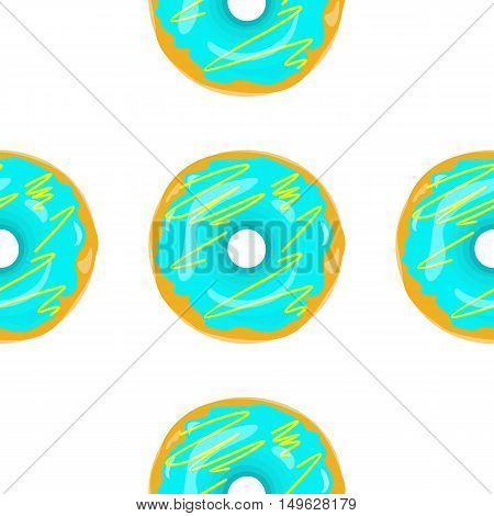 Donut seamless background texture pattern. Cute donuts with glazing. Seamless pattern. Delicious donut glazed. Donut pattern. Vector donuts pattern. Chocolate donuts. Isolated donuts seamless pattern