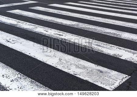 Pedestrian crossing on the road zebra traffic walk way