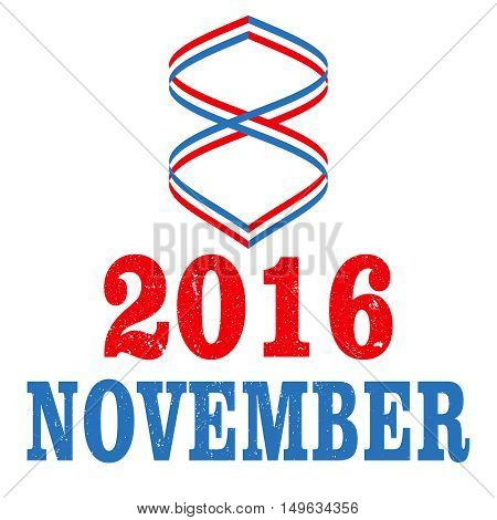 2016 US Election Day vector illustration concept