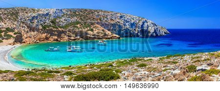 Turquoise crystal beaches of Greece - Kounoupa in Astypalea island