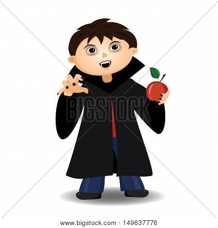 The boy in the costume of Dracula. Halloween.