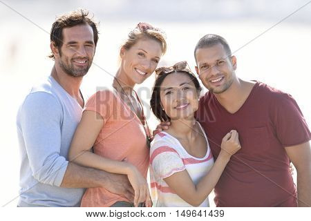 Portrait of multi-racial couples