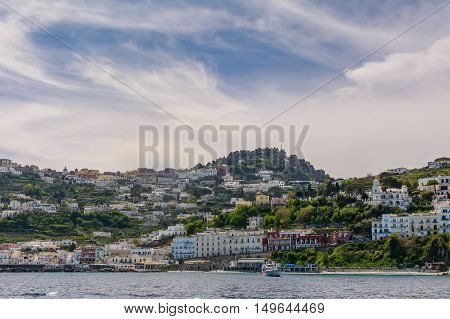 Capri, Italy - June 10: Capri Island On June 10, 2016 In Capri, Italy. The Island Of Capri Is A Very