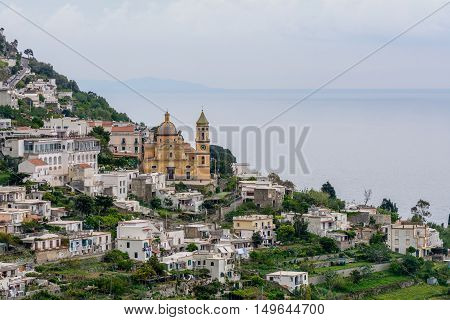 Amalfi, Italy - June 12: Amalfi Coast On June 12, 2016 In Amalfi, Italy. Lying At The Mouth Of A Dee
