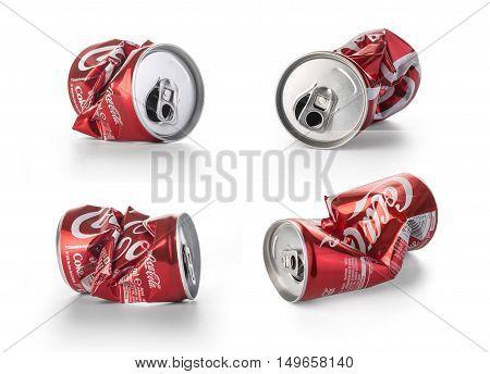 Crumpled Coca Cola Cans