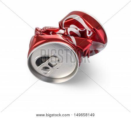 Crumpled Coca Cola Can.