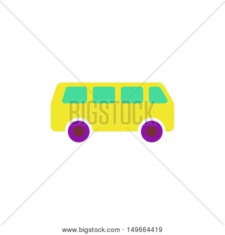 Minibus Icon Vector. Flat simple color pictogram