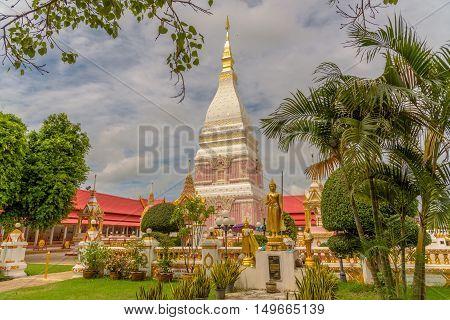 Wat Phra That Renu Nakhon temple in Nakhon Phanom, Thailand.