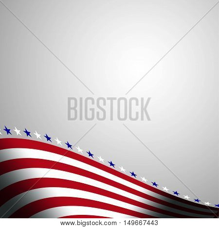 Abstract background in colors of american flag. Independence Day, Labor Day or Veterans Day theme background, etc. Stock vector.