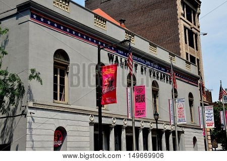 Philadelphia Pennsylvania - June 26 2013: Historic Walnut Street Theatre dating to 1811 is the oldest continuously operated theatre in the English-speaking world