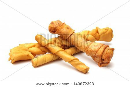 Dog Chew Toys Isolated On A White Background
