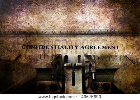 Confidential Agreement On Typewriter