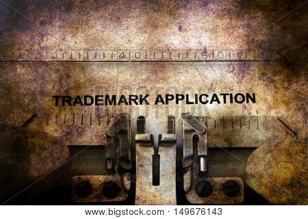 Trademark Application On Typewriter