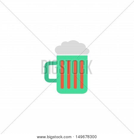 Beer Icon Vector. Flat simple color pictogram