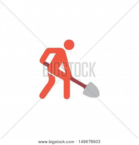 Building works Icon Vector. Flat simple color pictogram