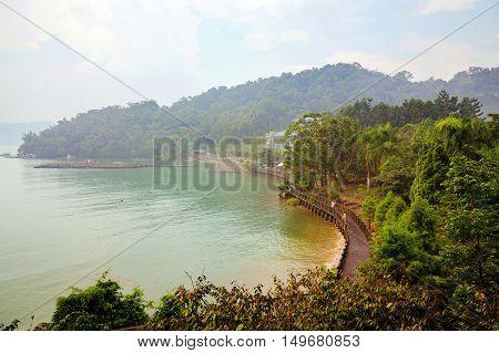 Beautiful Scenic landscape of Sun Moon Lake