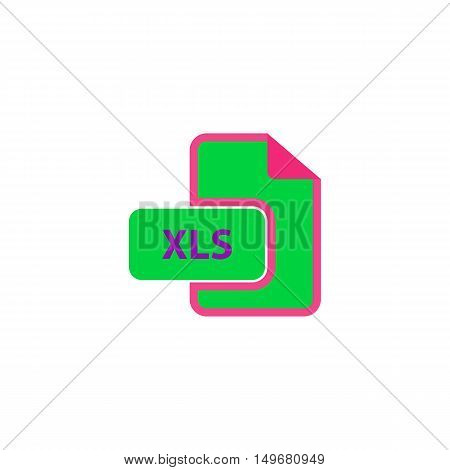 XLS Icon Vector. Flat simple color pictogram