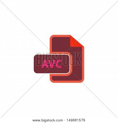 AVC Icon Vector. Flat simple color pictogram