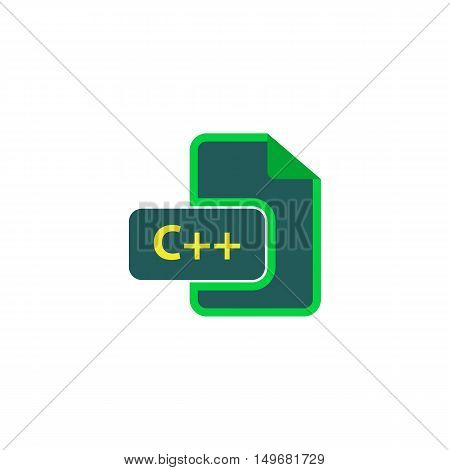 C++ Icon Vector. Flat simple color pictogram