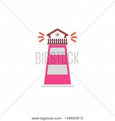 Lighthouse Icon Vector. Flat simple color pictogram