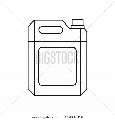Metal gasoline canister icon in outline style isolated on white background vector illustration