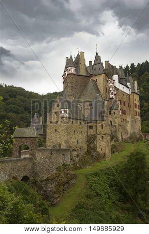Eltz Castle, Muenstermaifeld, Mayen-koblenz, Rhineland-palatinate, Germany.