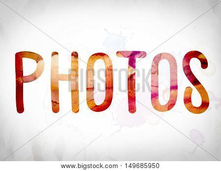 Photos Concept Watercolor Word Art