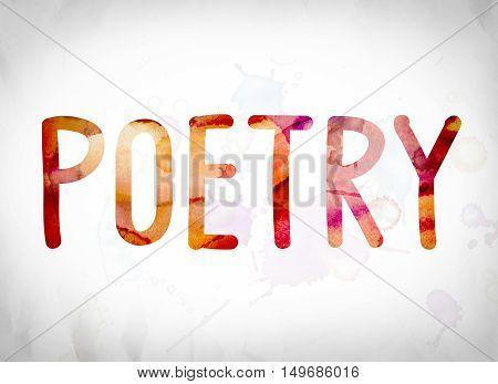 Poetry Concept Watercolor Word Art