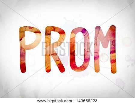 Prom Concept Watercolor Word Art