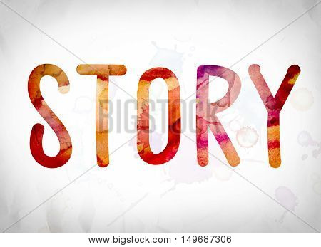 Story Concept Watercolor Word Art