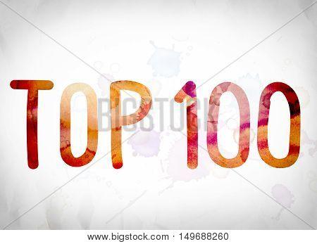Top 100 Concept Watercolor Word Art