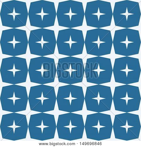 Seamless Star Pattern. Seamless pattern with stars. Vector illustration. All in a single layer. Seamless dark blue star pattern.
