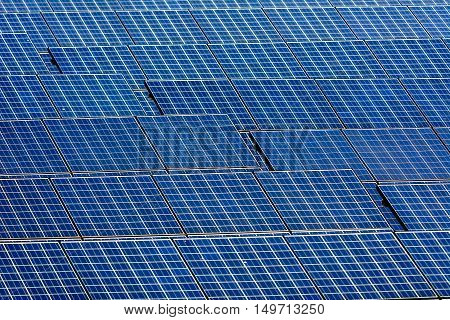 Wild Shot pattern of Solar cell panel