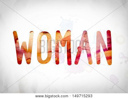 Woman Concept Watercolor Word Art