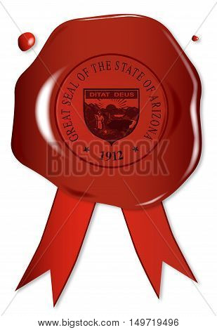 A wax seal with a the state seal of Arizona