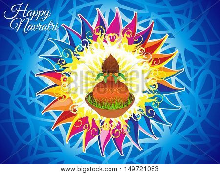 abstract artistic colorful navratri background vector illustration