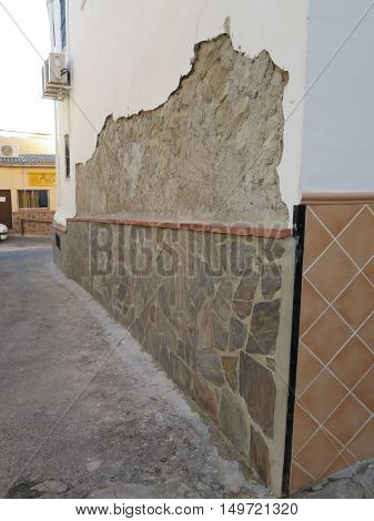 Newly Stone Clad Wall