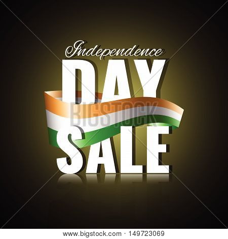 Independence Day sale. Indian Independence Day concept. Stock vector.