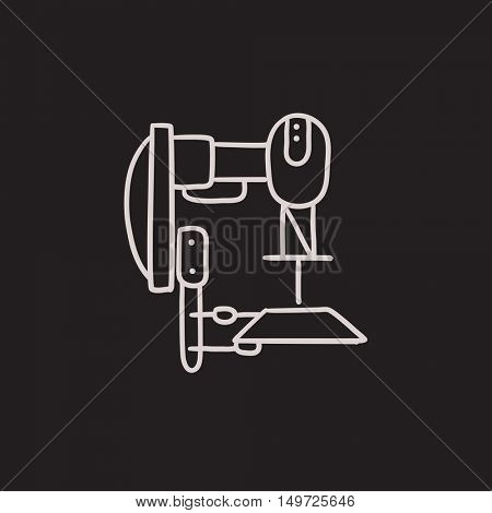 Industrial automated robot vector sketch icon isolated on background. Hand drawn Industrial automated robot icon. Industrial automated robot sketch icon for infographic, website or app.