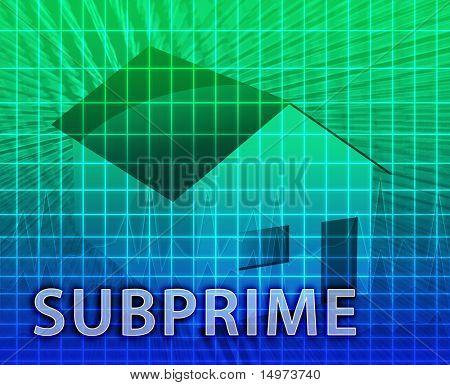 House financing digital collage illustration, subprime loan