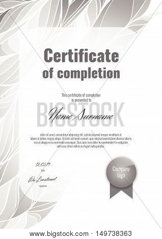 Certificate Of Completion Vertical