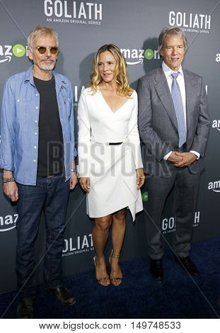 Billy Bob Thornton, Maria Bello and David E. Kelley at the Los Angeles premiere of Amazon's 'Goliath' held at the London Hotel in West Hollywood, USA on September 29, 2016.