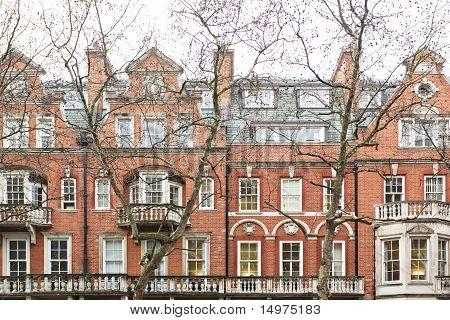 Typical English Facade Houses