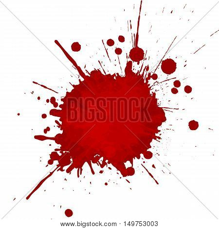 vector red color splatter design background. illustration vector design