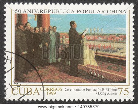 MOSCOW RUSSIA - CIRCA SEPTEMBER 2016: a stamp printed in CUBA shows