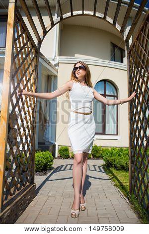 Pretty Slim Blond Woman