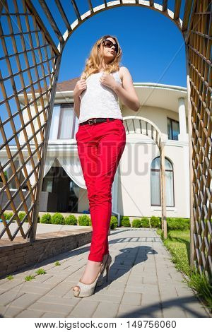 Slim Blond Woman