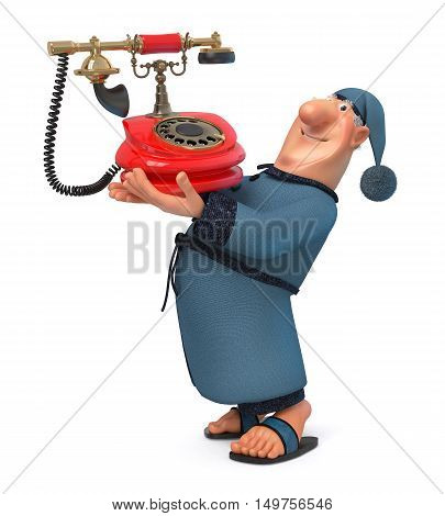 3D Illustration Of The Businessman With Phone